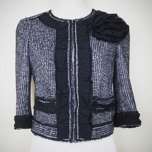 Ann Taylor Tweed Grey Black Cropped Wool 4